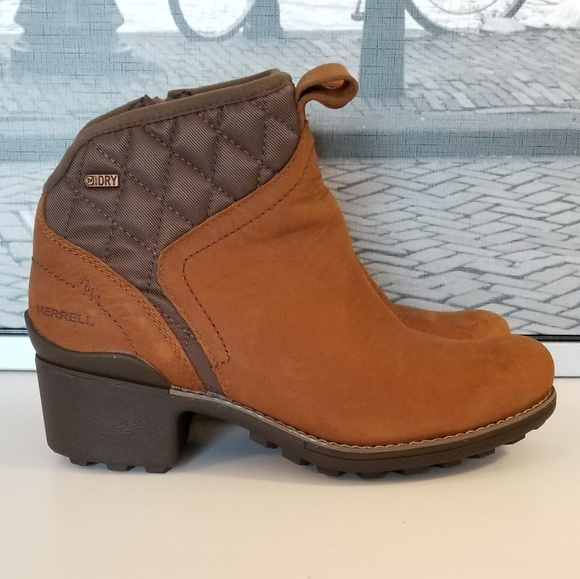 a7fd0d27b0c454 Merrell Chateau Mid Pull Waterproof Bootie. M 5bc7d266aa877020050417c1
